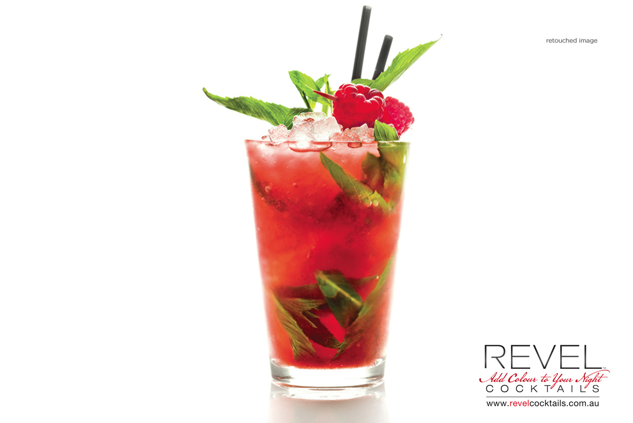 revel cocktails drink image retouching |