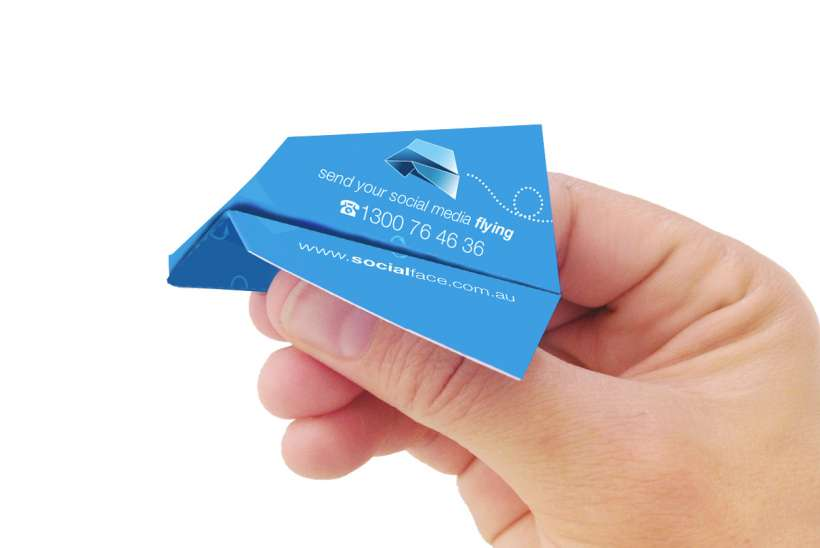 Socialface - we send your social media flying business cards